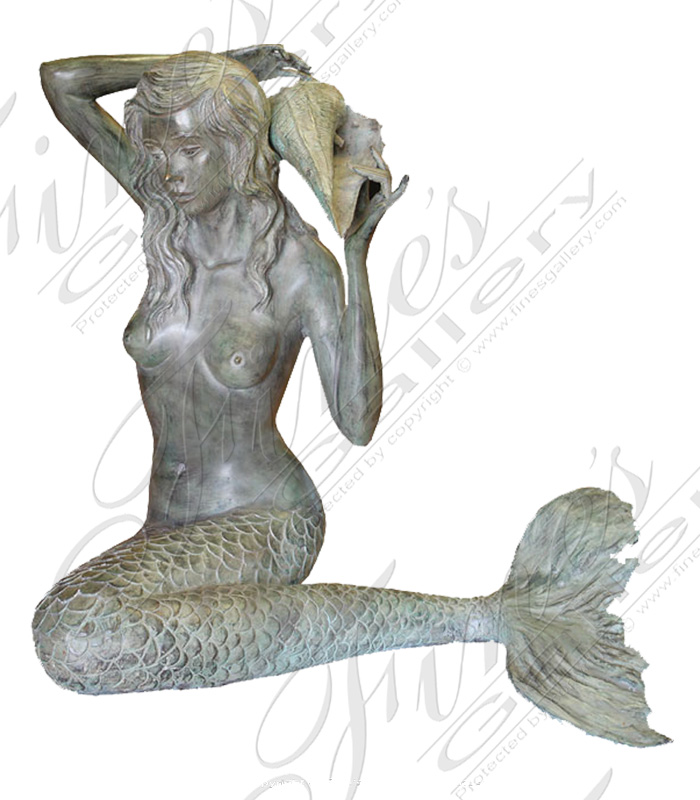 Search Result For Bronze Fountains  - Seductive Sea Nymph - BF-569