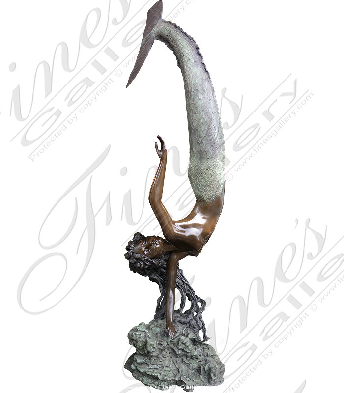 Bronze Fountains  - Bronze Mermaid Fountain - BF-194