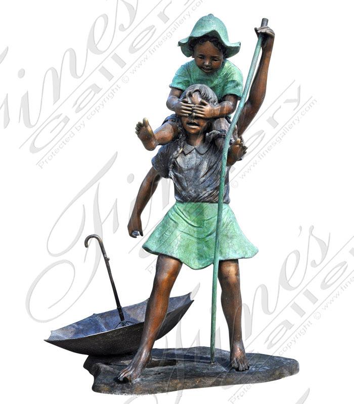 Bronze Fountains  - Bronze Children Fountain - BF-205