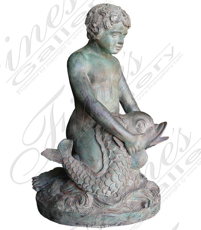 Bronze Fountains  - Patina Boy - BF-252