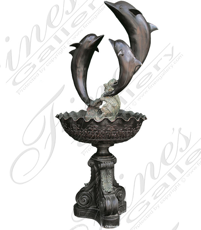 Bronze Fountains  - Three Dolphins - BF-262