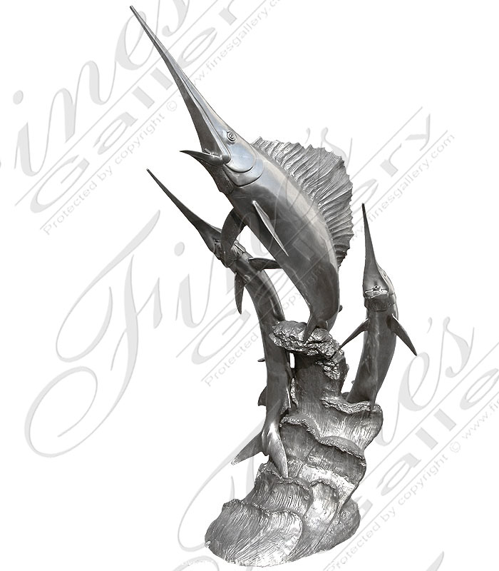 Bronze Fountains  - Silver Marlins - BF-267