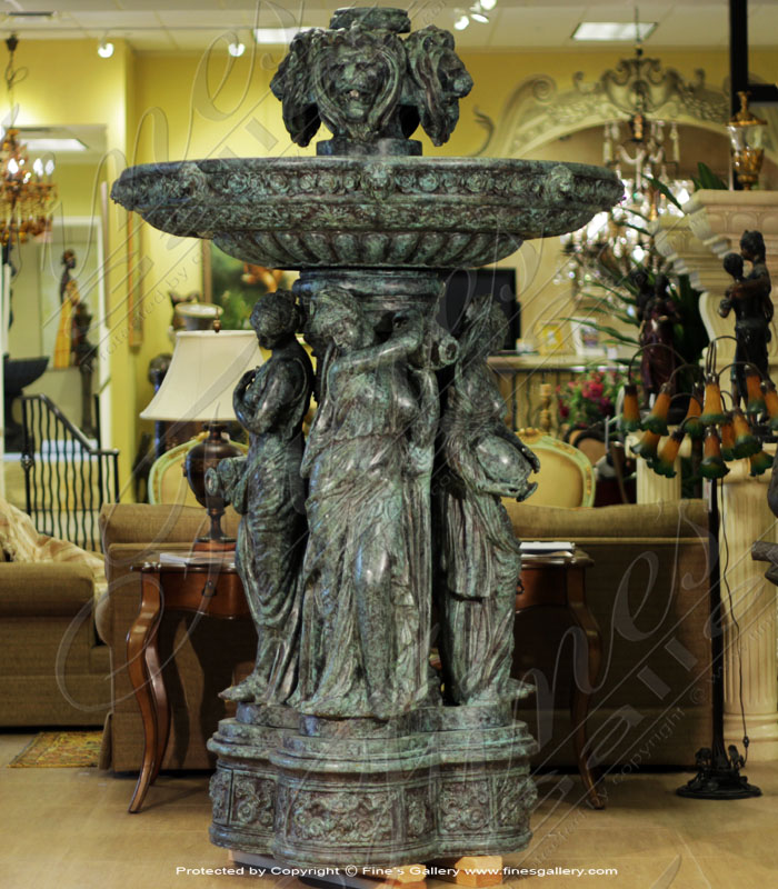 Bronze Fountains  - Lions And Maidens Bronze Fountain - BF-640