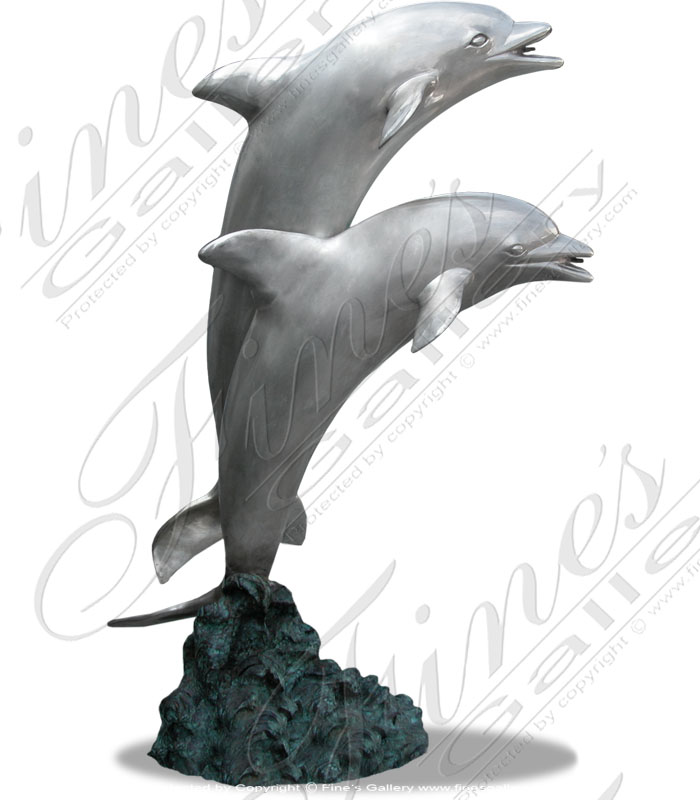 Bronze Fountains  - Bronze Dolphin Fountain - BF-287