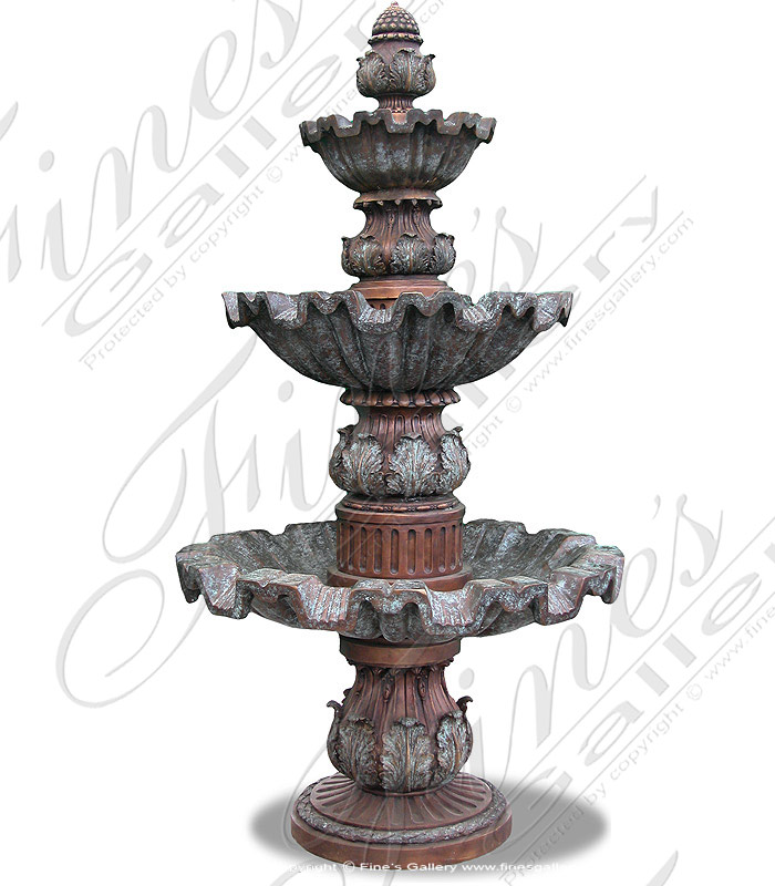 Three Tier Bronze Fountain