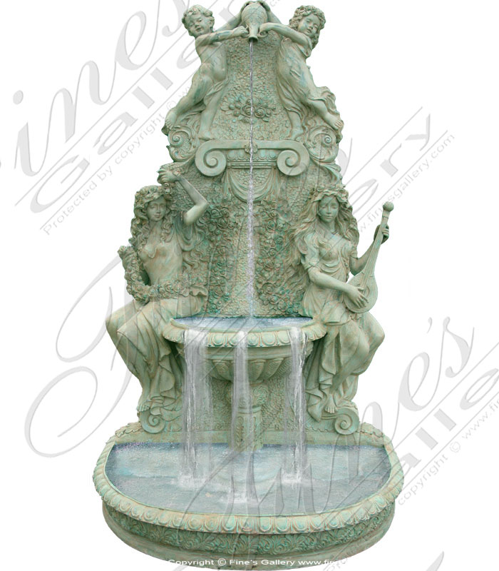 Bronze Fountains  - Bronze Wall Fountain - BF-290