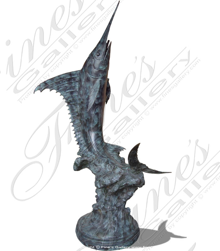 Bronze Fountains  - Bronze Marlin - BF-291