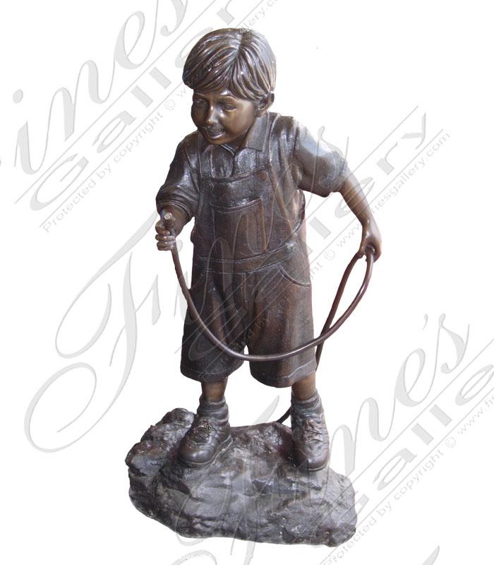 Bronze Fountains  - Boy And Garden Hose - BF-303