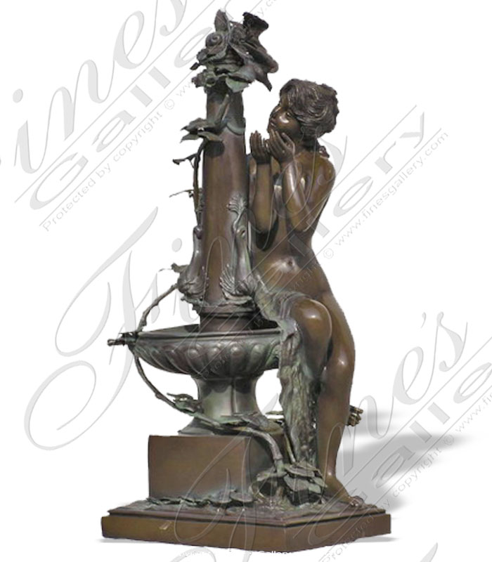Bronze Fountains  - Bronze Female Fountain - BF-318