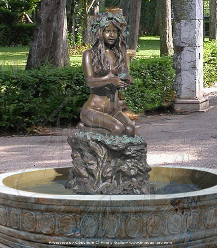 Bronze Fountains  - Bronze Female Fountain - BF-348