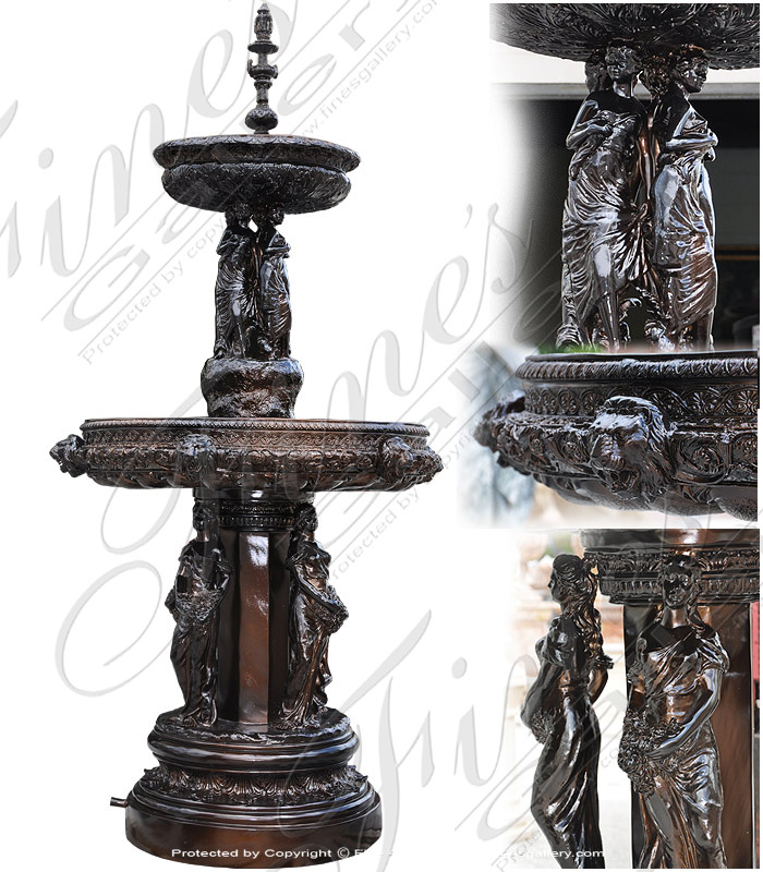 Bronze Fountains  - Pretty Maiden Fountain - BF-357