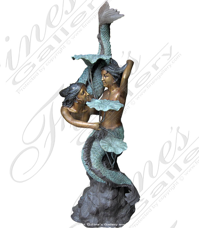 Bronze Fountains  - The Two Mermaid Fountain - BF-366