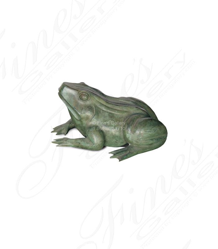 Bronze Frog Fountain