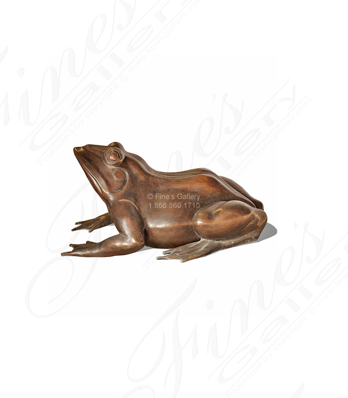 Bronze Fountains  - Bronze Frog Fountain Copper - BF-376