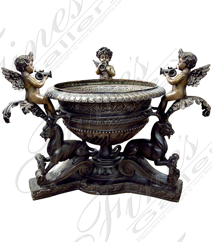 Three Angels Bronze Fountain