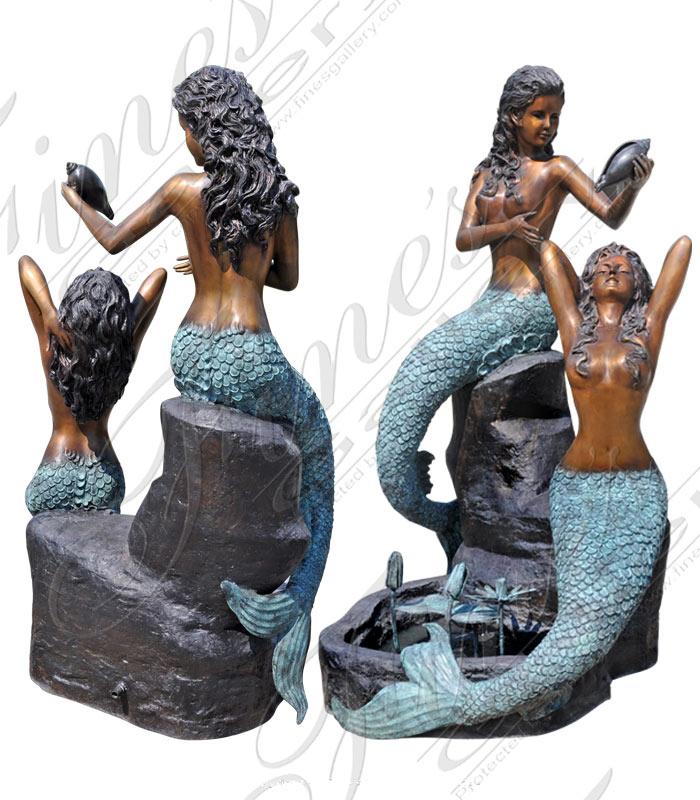 Bronze Fountains  - Mermaids Garden Fountain - BF-382