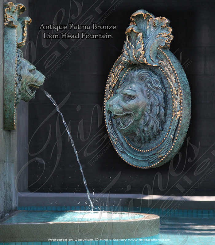 Bronze Fountains  - Male Face Bronze Wall Fountain - BF-449