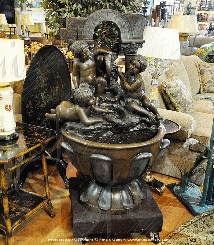 Bronze Fountains  - Bronze Children At Play Fountain - BF-402