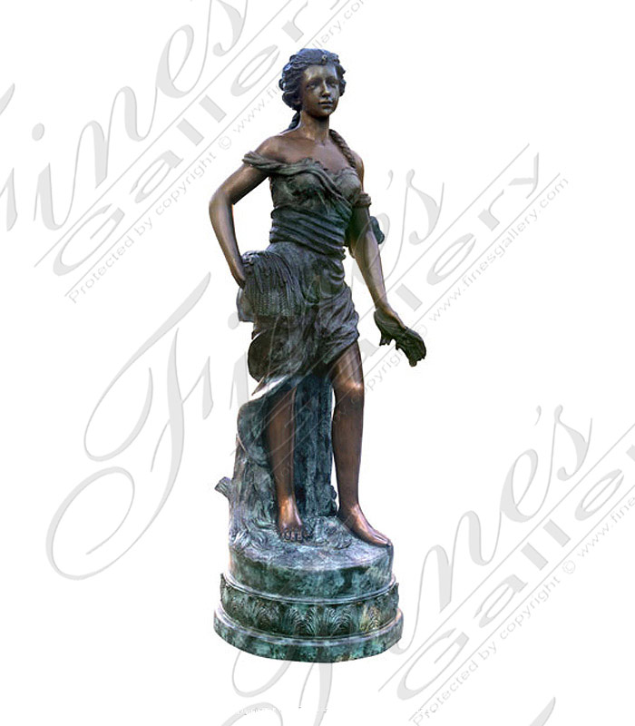 Bronze Fountains  - Bronze Female Fountain - BF-403