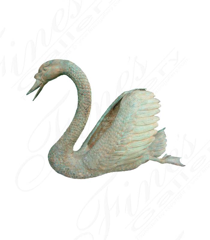 Bronze Fountains  - The Graceful Swan Bronze Fountain - BF-438