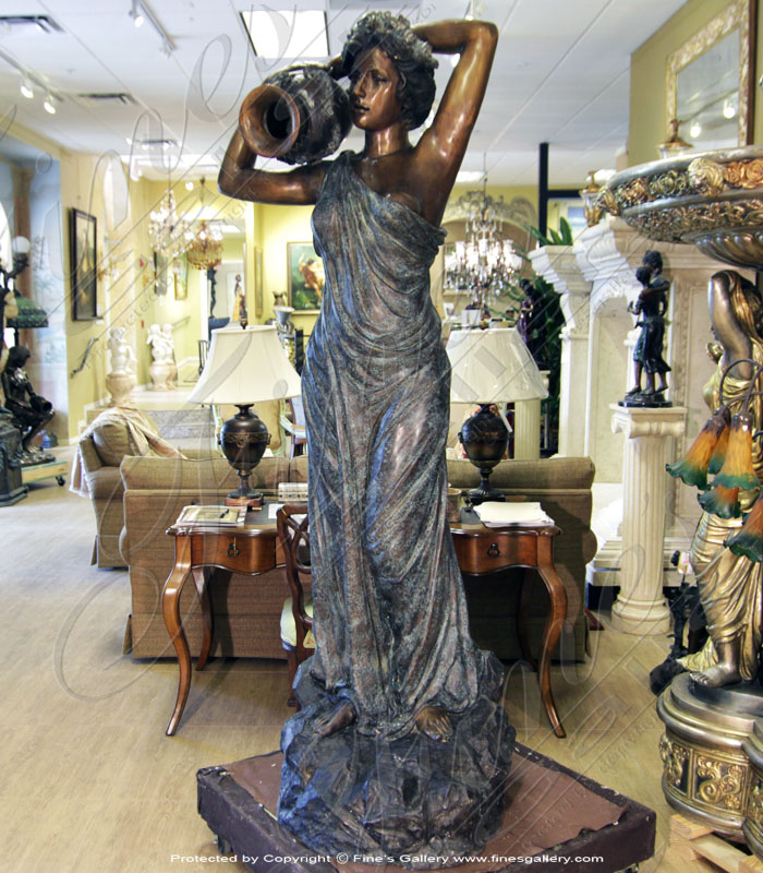 Bronze Fountains  - Modern Style Female Fountain - BF-722