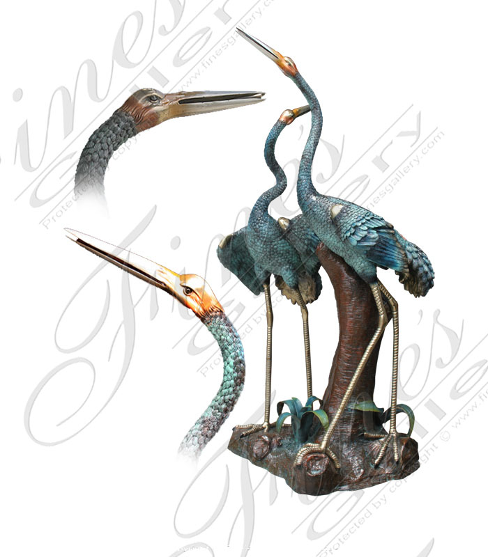 Bronze Fountains  - Peaceful Bronze Birds - BF-507