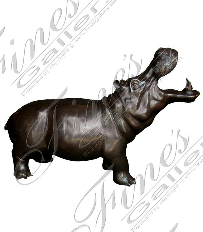 Bronze Fountains  - Bronze Hippo Fountain - BF-534