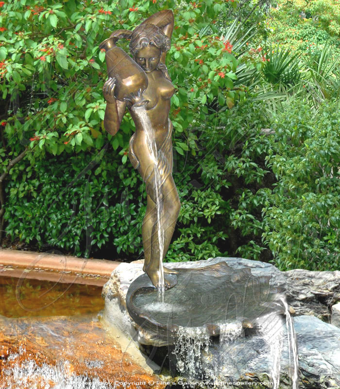 Bronze Fountains  - Young Girl Bronze Fountain - BF-408