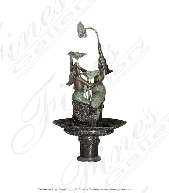 Bronze Fountains  - Mermaid Lagoon Bronze Fountain - BF-566
