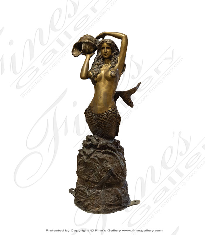 Bronze Fountains  - Bronze Mermaid & Dolphins - BF-771