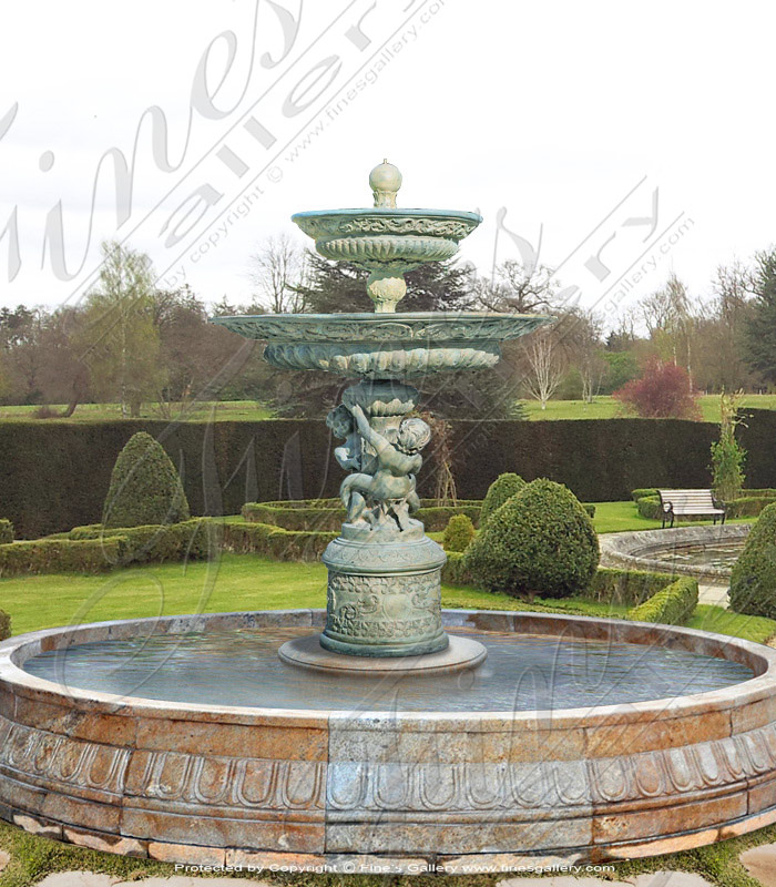 Bronze Fountains  - Garden Fantasy Bronze Fountain - BF-608