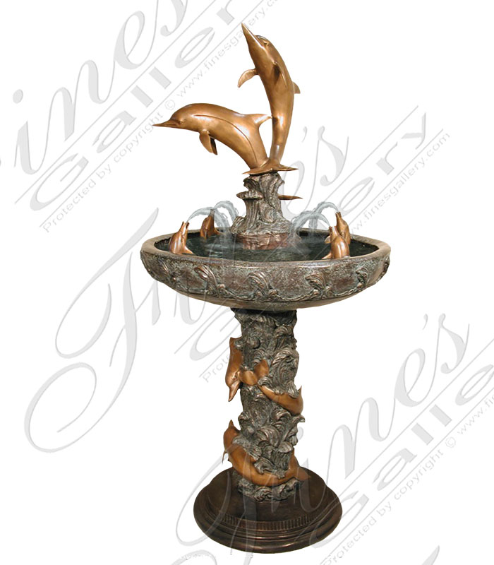 Bronze Fountains  - Bronze Dolphin Fountain - BF-624