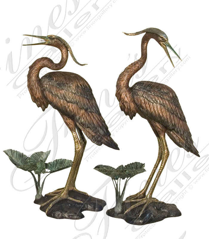 Search Result For Bronze Statues  - Great Blue Heron - BS-650
