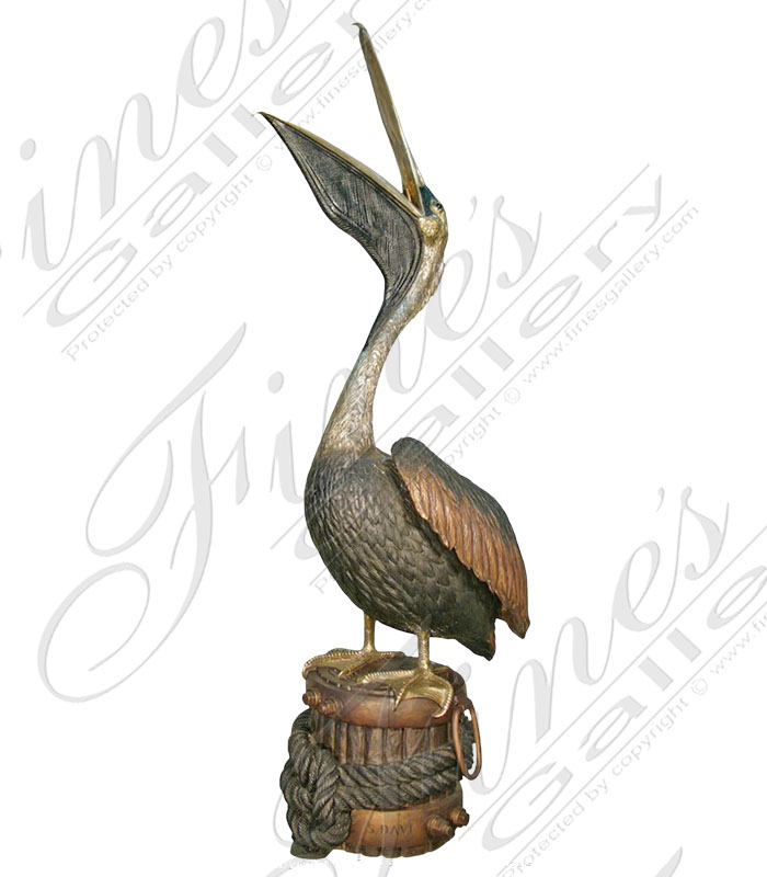 Search Result For Bronze Fountains  - Patina Bronze Crane Pair - BF-105
