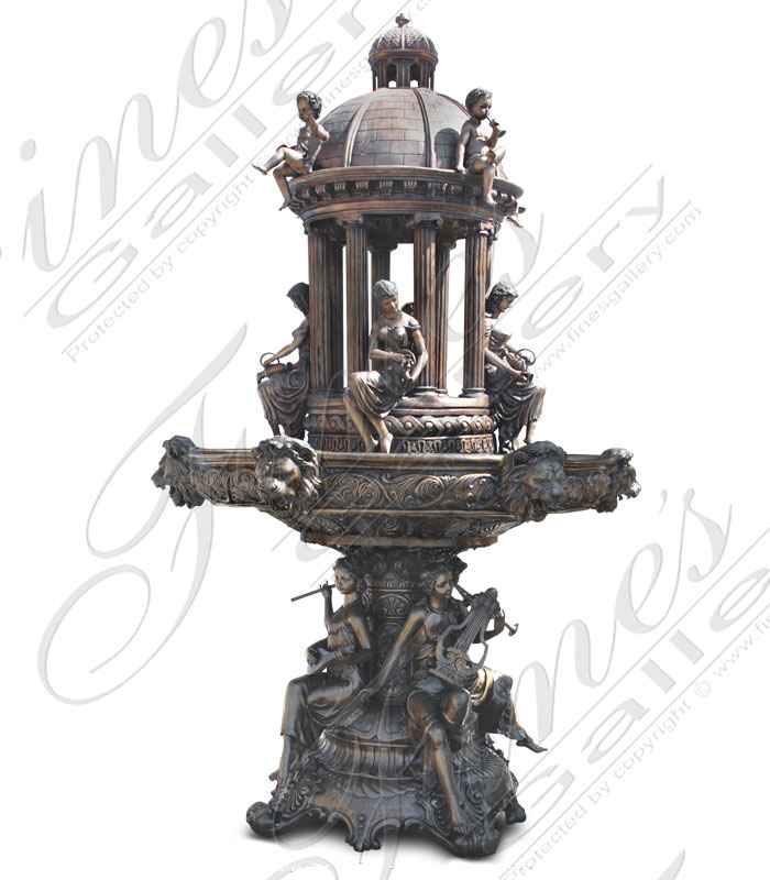 Bronze Fountains  - Royal Garden Bronze Fountain - BF-657