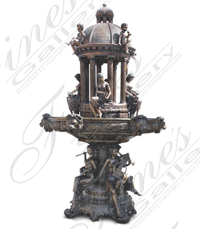 Bronze Fountains  - Royal Garden Bronze Fountain - BF-657