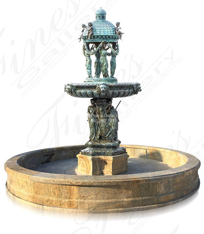 Bronze Fountains  - Luxurious Falls Fountain - BF-658