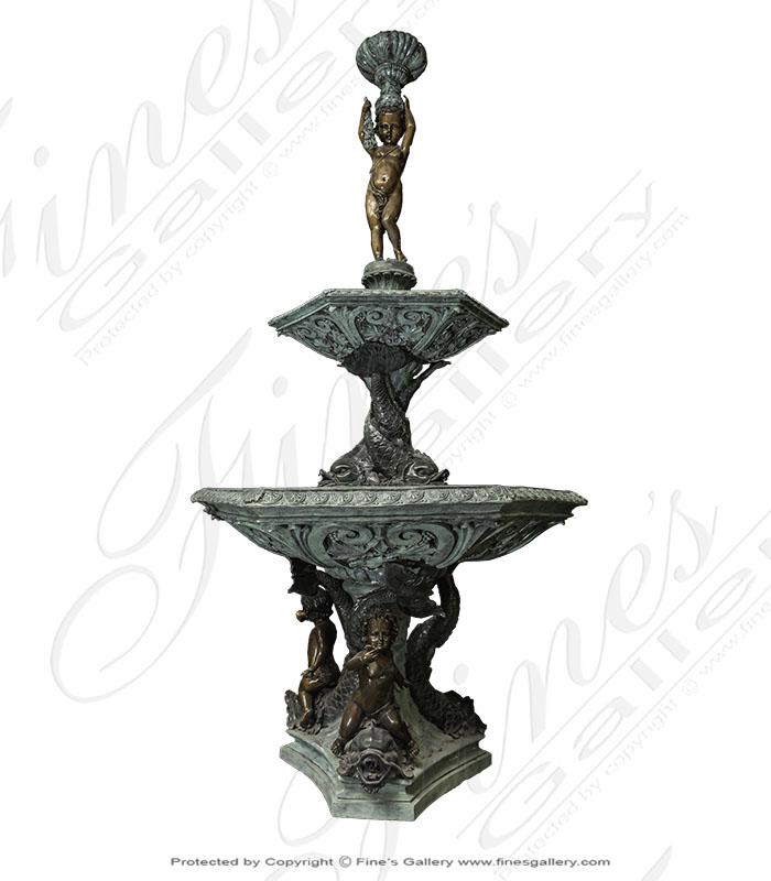 Aquatic Cupids Bronze Fountain