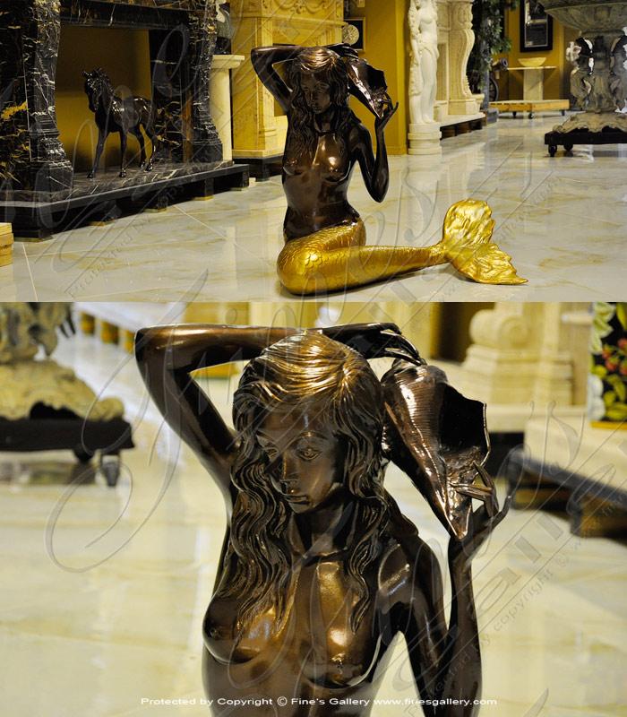 Bronze Fountains  - Bronze Mermaid Fountain - BF-680