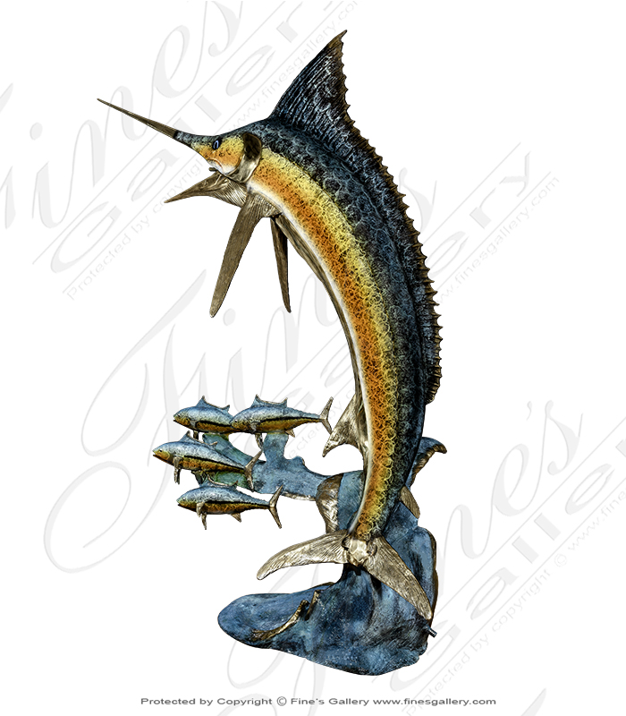 Bronze Fountains  - Bronze Marlin Fountain - BF-684