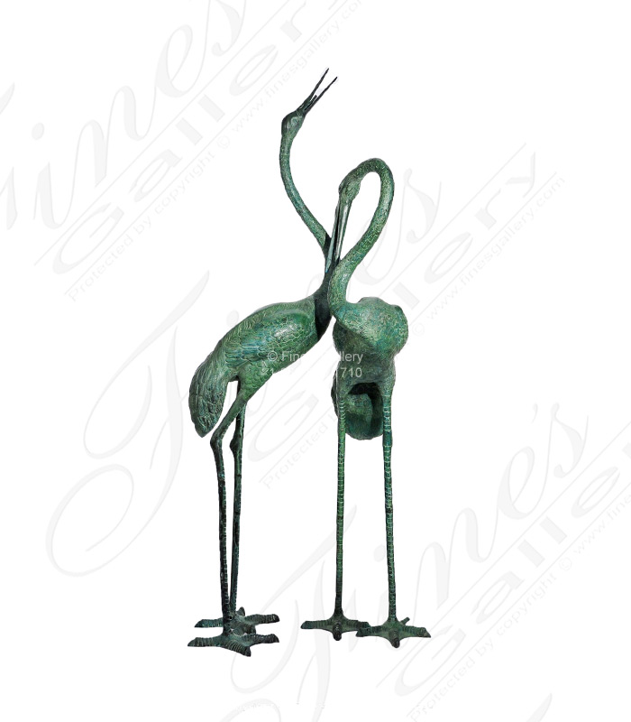 Search Result For Bronze Fountains  - Crane Pair Fountain - BF-592