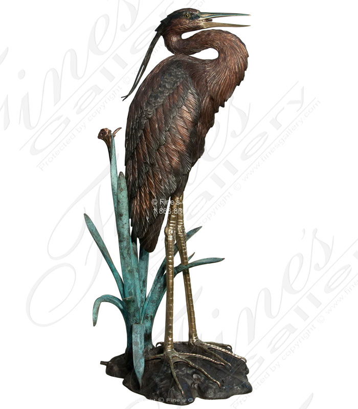 Bronze Fountains  - Bronze Bird Fountain - BF-363