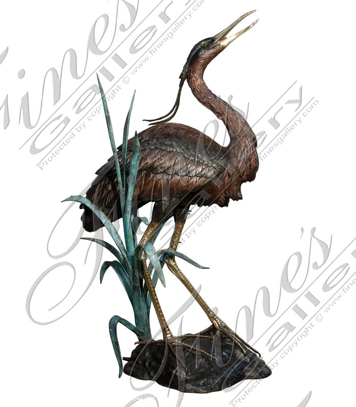 Bronze Fountains  - Large Multi Color Bronze Birds - BF-381