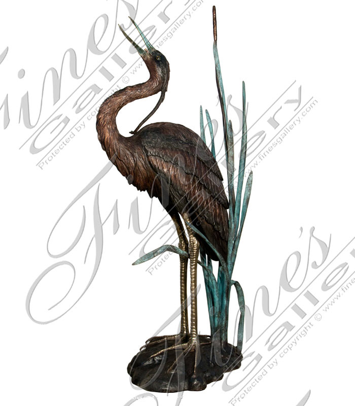 Search Result For Bronze Fountains  - Two Herons Fountain - BF-626