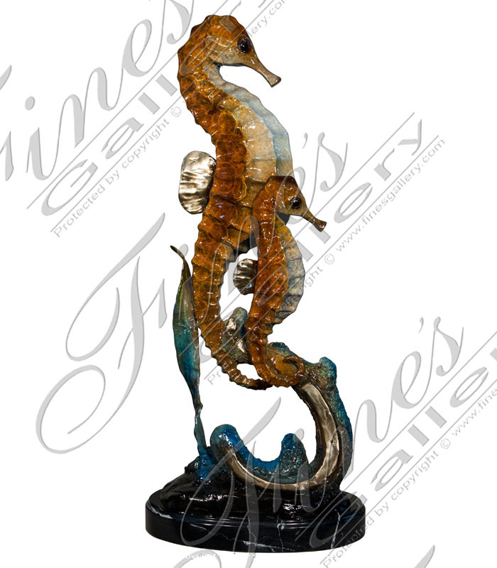 Bronze Fountains  - Bronze Seahorse Fountain - BF-718