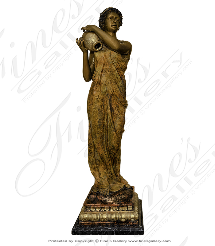 Bronze Fountains  - Female Maiden Bronze Fountain - BF-720