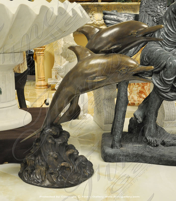 Bronze Fountains  - Bronze Dolphins Fountain - BF-768