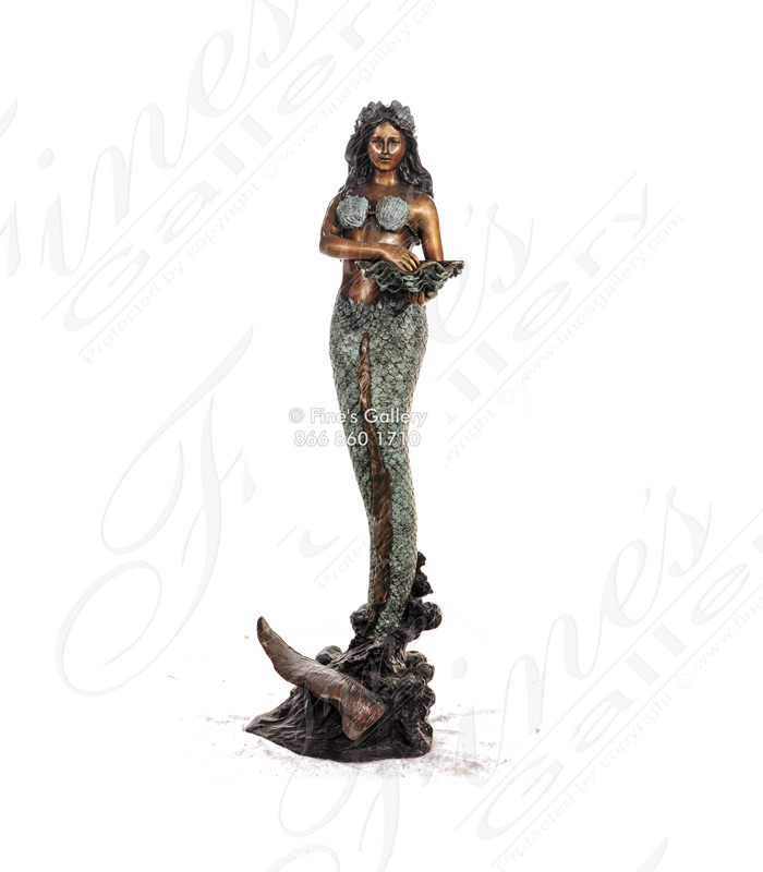 Bronze Fountains  - Bronze Fountain Of Mermaid,Turtle & Fish - BF-716
