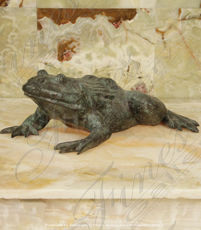 Bronze Fountains  - Patina Bronze Frog Fountain - BF-778