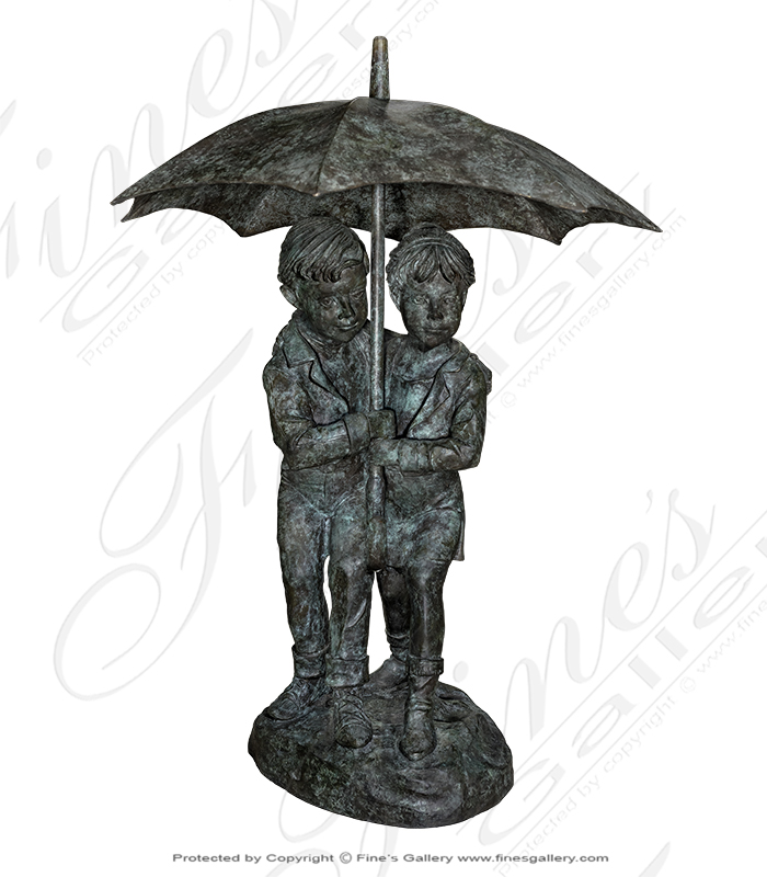 Bronze Fountains  - Bronze Fountain Children Umbre - BF-796